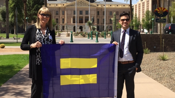 HRC Members and Supporters Gather for Equality Day at the Arizona Capitol