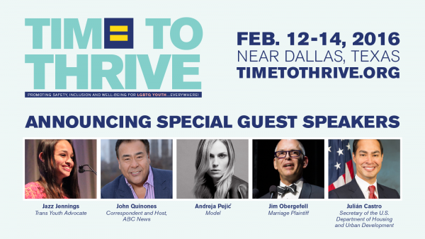 HRC Announces Honoree and Speakers for Upcoming Time to Thrive Conference