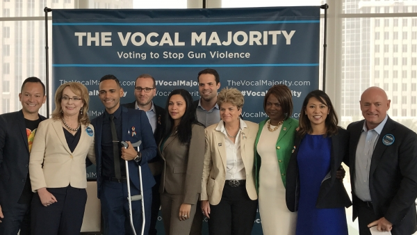 "Gabrielle Giffords, Mark Kelly, Chad Griffin, Others Launch ""Vocal Majority"" Bus Tour in Orlando"