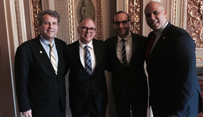 Jim Obergefell; Sen. Sherrod Brown; Sen. Cory Booker; Chad Griffin